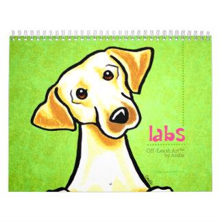 Labrador Retrievers Labs Off-Leash Art™ Vol 1 Wall Calendar
