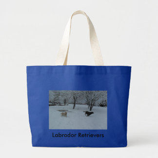 Labrador Retrievers Large Tote Bag