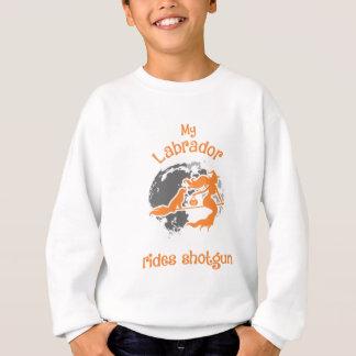 Labrador Rides Shotgun Halloween Costume Sweatshirt