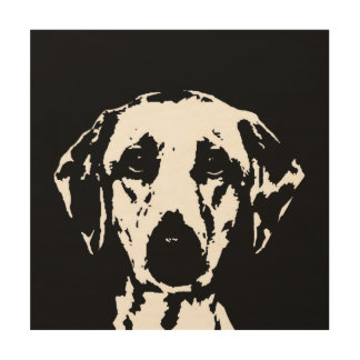 "Labrador Stencil Wood 12""x12"" Wall Art"