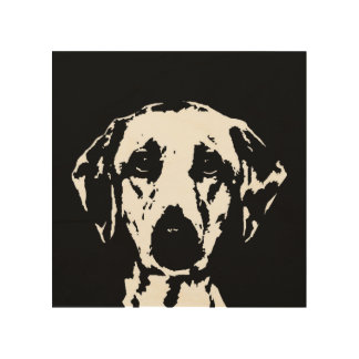 "Labrador Stencil Wood 8""x8"" Wall Art"