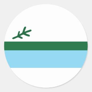 labrador round sticker