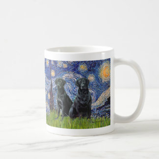 Labrador (two black) - Starry Night Coffee Mug