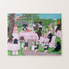 Labrador Wedding Painting Jigsaw Puzzle