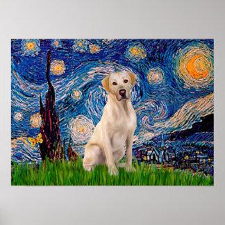 Labrador (Y7) - Starry Night Poster