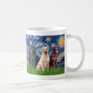 Labradors (3) - Starry Night Coffee Mug