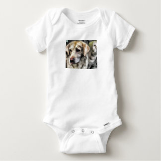 labradors fun in the mud baby onesie