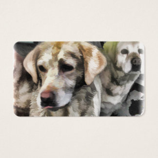labradors fun in the mud business card