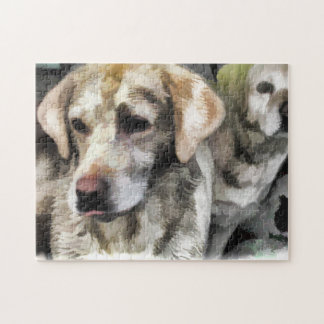 labradors fun in the mud puzzles