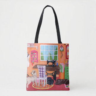 Labradors in Mom's Sewing Room Tote