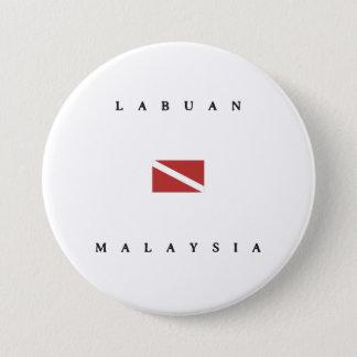 Labuan Malaysia Scuba Dive Flag 3 Inch Round Button