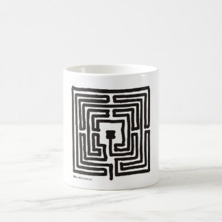 labyrinth 7 square coffee mug