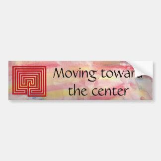 Labyrinth Bumper Sticker - Moving Toward Center