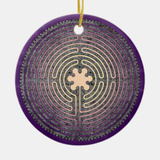 Labyrinth Ceramic Ornament