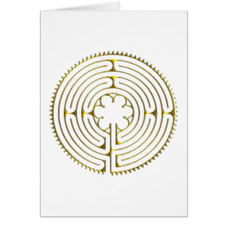 Labyrinth Chartres Card