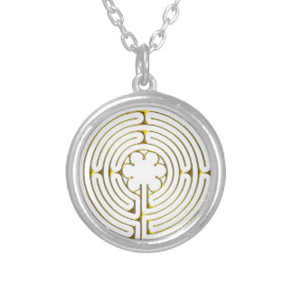 Labyrinth Chartres Silver Plated Necklace