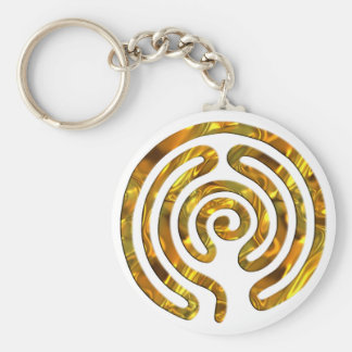 Labyrinth GOLD   make your own background Keychain