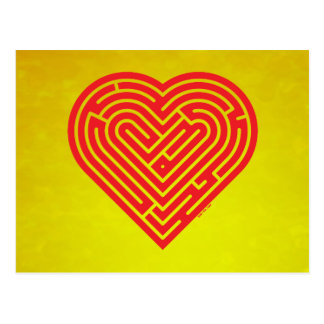 Labyrinth Heart Postcard