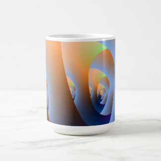 Labyrinth in Orange and Blue Mug