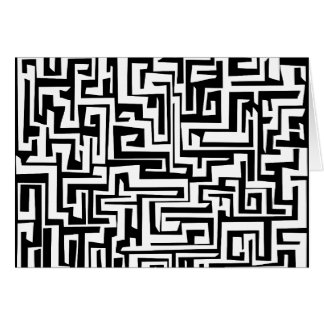 Labyrinth, maze design card