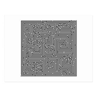 Labyrinth maze maze postcard