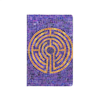 Labyrinth Mosaic Pocket Journal - Blank Pages