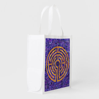 Labyrinth Mosaic Reusable Grocery Bag