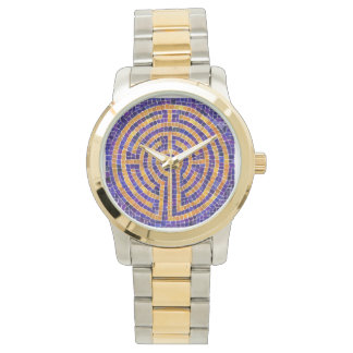 Labyrinth Mosaic Two-Tone Watch