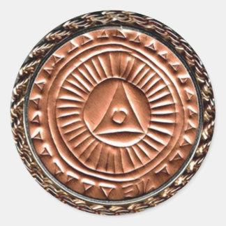 Labyrinth Readers Society Emblem Classic Round Sticker