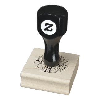 Labyrinth rubber stamp