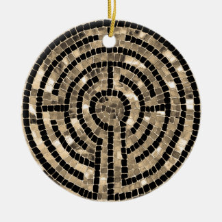 Labyrinth V Ceramic Circle Ornament - 2 sided