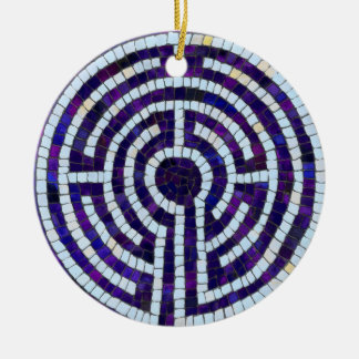 Labyrinth VIII Ceramic Ornament