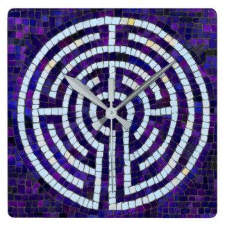 Labyrinth VIII Square Wall Clock