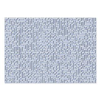 Labyrinthe bleu d'Alice dans un jardin anglais de Carte De Visite Grand Format
