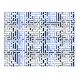 Labyrinthe bleu d'Alice dans un jardin anglais de Carte Postale