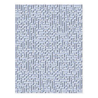 Labyrinthe bleu d'Alice dans un jardin anglais de Cartes Postales