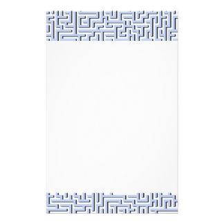 Labyrinthe bleu d'Alice dans un jardin anglais de Papier À Lettre Personnalisé