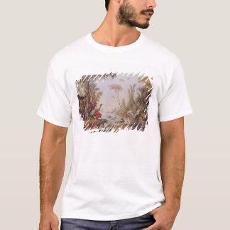 Lac avec des oies, des cigognes, des perroquets et t-shirt