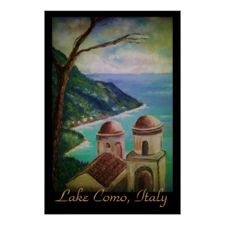 Lac Como, affiche de l'Italie