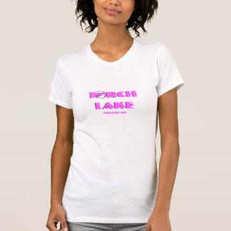 Lac torch, Michigan - avec l'icône rose de voilier T-shirts