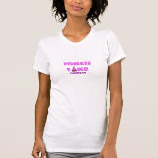 Lac torch, Michigan - avec l'icône rose de voilier T-shirt