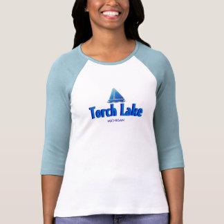 Lac torch, Michigan - dames 3/4 raglan de douille Tee-shirt