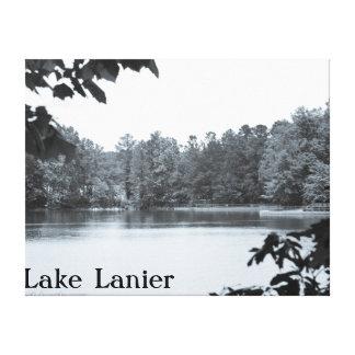 Lac vintage Lanier GA canvas de photo de regard Toiles Tendues Sur Châssis