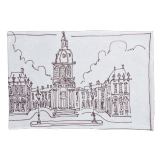 L'Academie Francaise | Seine River, Paris Pillowcase