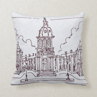 L'Academie Francaise | Seine River, Paris Throw Pillow