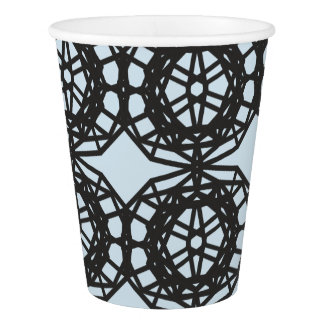 Lace / Abstract Geometry Pattern Paper Cup
