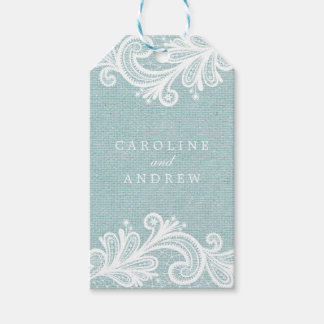 Lace and Burlap Wedding Pack Of Gift Tags