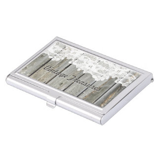 Lace Barn Wood Personalized Business Card Holders
