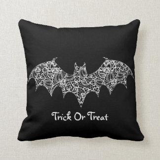 Lace bat throw pillow
