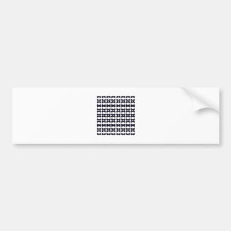 Lace black on white bumper sticker